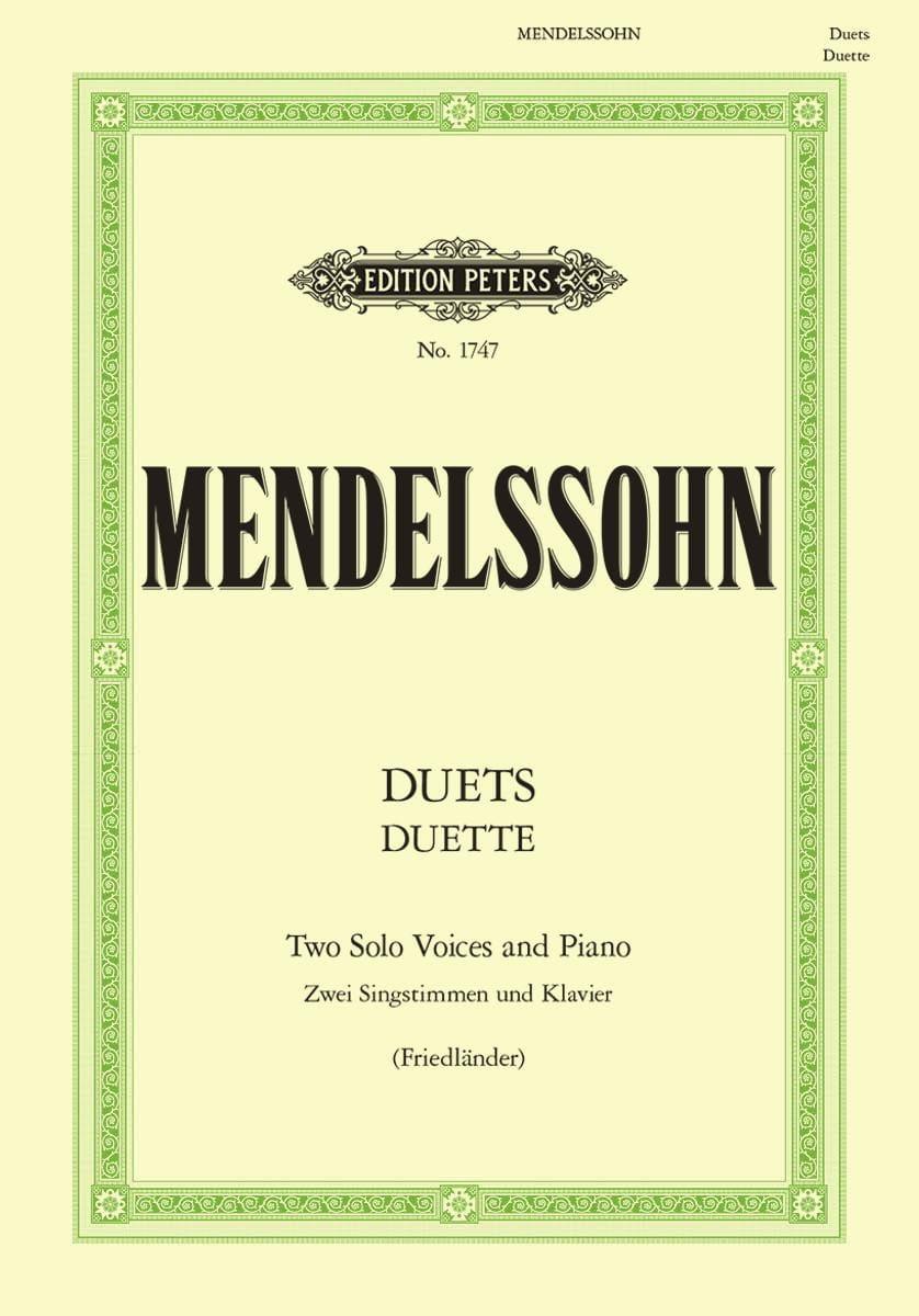 Duette. 19 Duos - MENDELSSOHN - Partition - Duos - laflutedepan.com