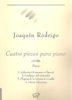 Joaquin Rodrigo - 4 Piezas Para Piano - Partition - di-arezzo.fr