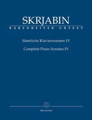 Sonates complètes. Volume 4 - SCRIABINE - Partition - laflutedepan.com