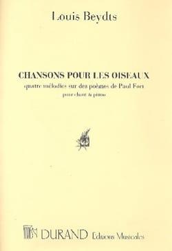 Chansons Pour les Oiseaux. Voix Haute. Louis Beydts laflutedepan