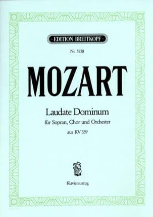 Laudate Dominum KV 339 MOZART Partition Chœur - laflutedepan