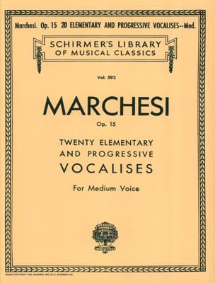 20 Vocalises Elémentaires et Progressives Opus 15. Voix Moyenne laflutedepan