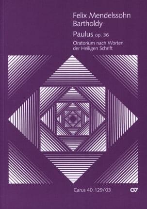 Paulus Opus 36 MENDELSSOHN Partition Chœur - laflutedepan