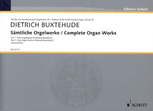 Œuvres d'Orgue Complètes, Volume 1 - BUXTEHUDE - laflutedepan.com