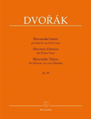 Danses Slaves op. 46. 4 mains DVORAK Partition Piano - laflutedepan