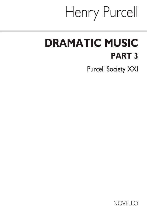 Dramatic Music Part 3 - PURCELL - Partition - laflutedepan.com
