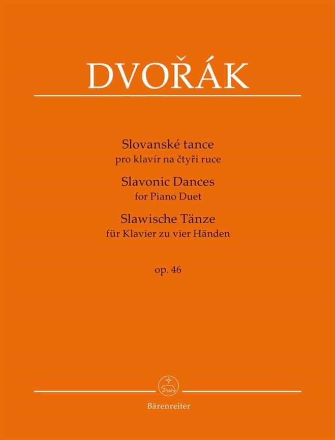 Danses Slaves op. 46. 4 mains - DVORAK - Partition - laflutedepan.com
