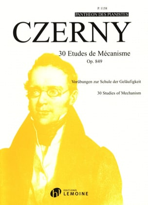 CZERNY - 30 Mechanism Studies Opus 849 - Partition - di-arezzo.co.uk