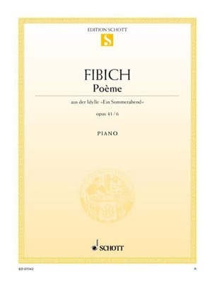 Poème Op. 41-6 - Zdenek Fibich - Partition - Piano - laflutedepan.com