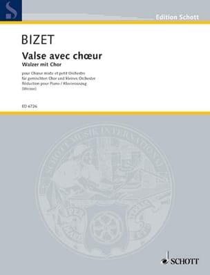 Valse Avec Choeur BIZET Partition Chœur - laflutedepan