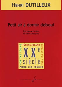 Petit Air A Dormir Debout - DUTILLEUX - Partition - laflutedepan.com
