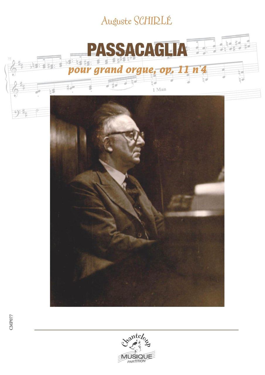 Passacaglia Opus 11-4 - Auguste Schirlé - Partition - laflutedepan.com
