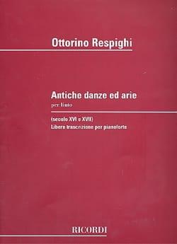 Antiche Danze Ed Arie. RESPIGHI Partition Piano - laflutedepan