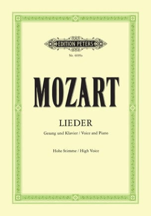 MOZART - 50 Lieder. Aloud - Partition - di-arezzo.co.uk