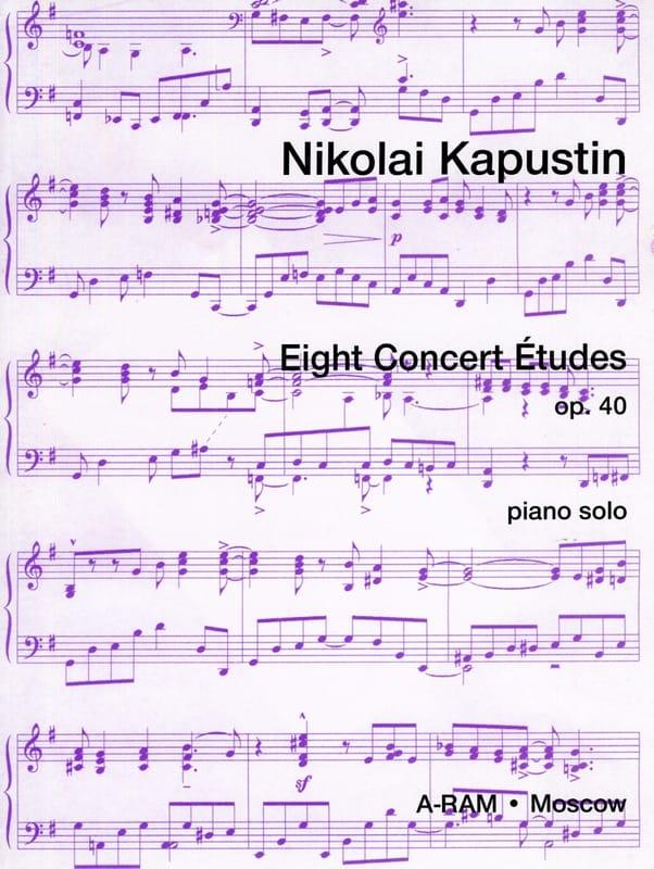 8 Etudes de Concert Opus 40 - Nikolai Kapustin - laflutedepan.com