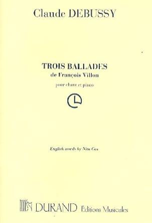 3 Ballades de François VILLON DEBUSSY Partition laflutedepan