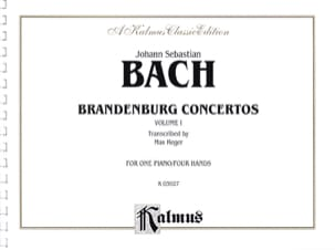 Concertos Brandebourgeois Volume 1. 4 Mains BACH laflutedepan
