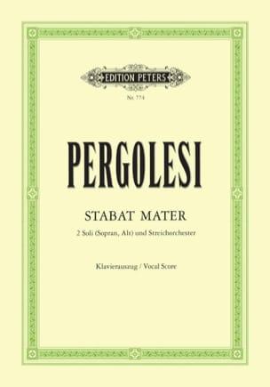 Stabat Mater PERGOLESE Partition Duos - laflutedepan