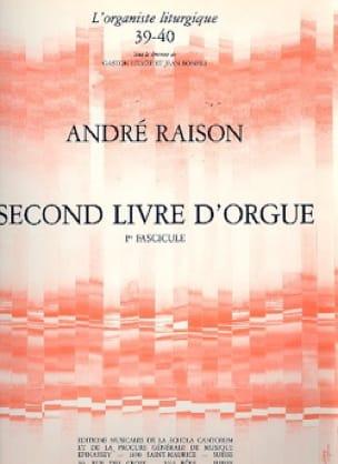 Second Livre d'Orgue Volume 1 - André Raison - laflutedepan.com