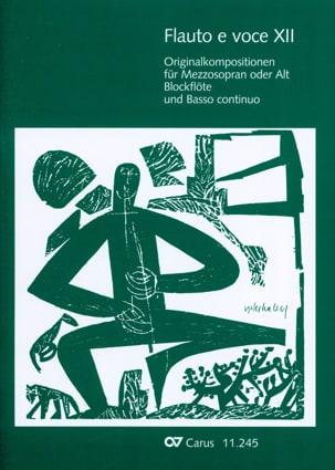 Flauto E Voce. Volume 12 Partition Flûte à bec - laflutedepan