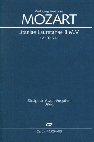 Litaniae Lauretanae B.M.V. K 109 MOZART Partition Chœur - laflutedepan
