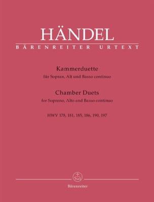 Kammerduette HAENDEL Partition Duos - laflutedepan