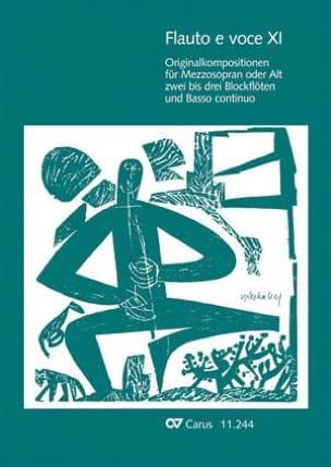 Flauto E Voce. Volume 11 Partition laflutedepan