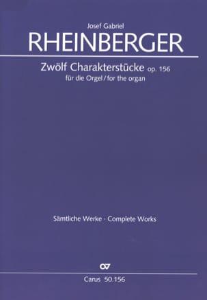 12 Charakterstücke Op. 156 RHEINBERGER Partition Orgue - laflutedepan