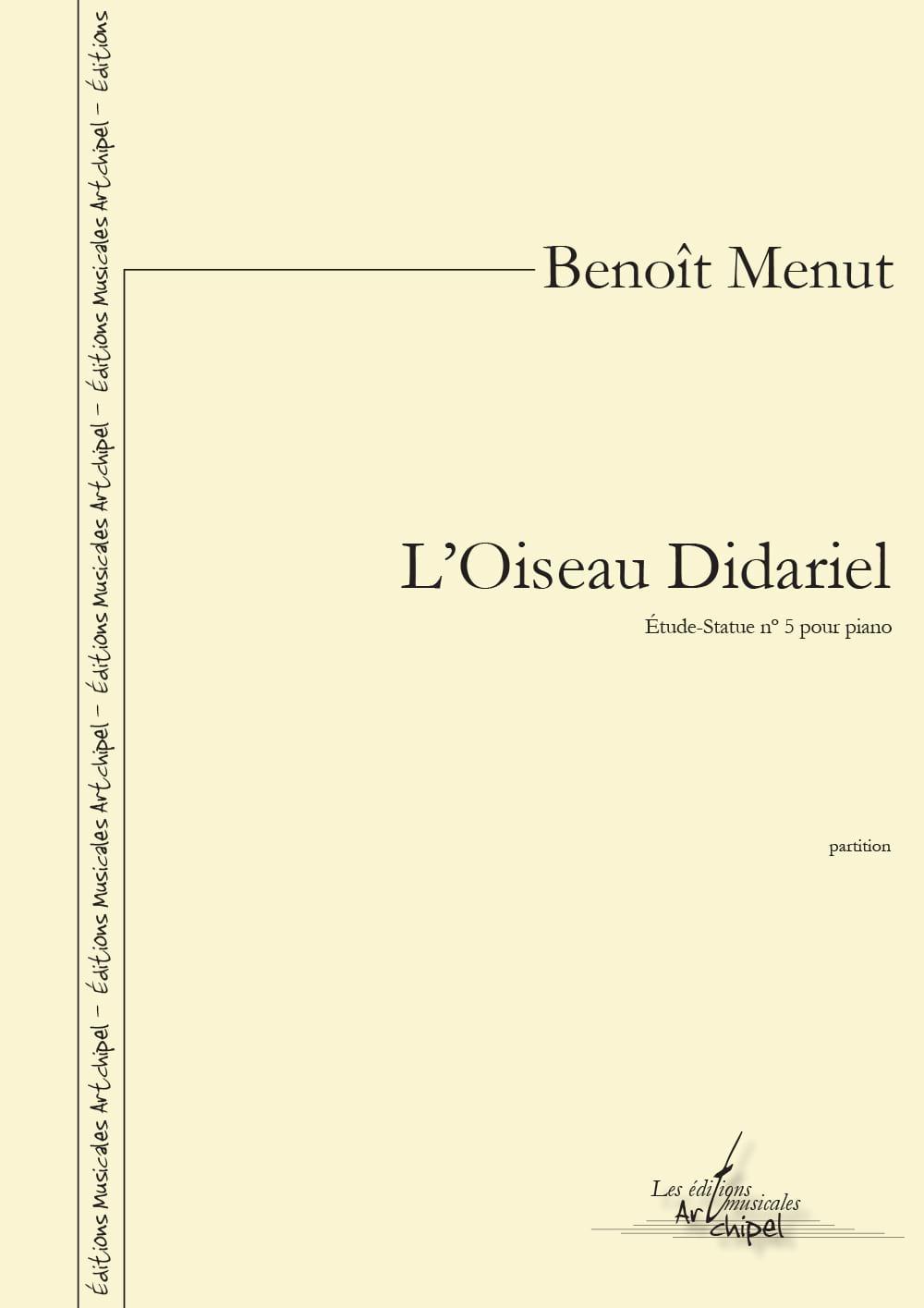 L'Oiseau Didariel - Benoît Menut - Partition - laflutedepan.com