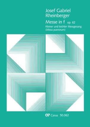 Missa Puerorum Op. 62 - RHEINBERGER - Partition - laflutedepan.com