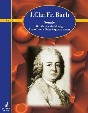 Sonate la Majeur. 4 Mains Johann Christoph Friedrich Bach laflutedepan