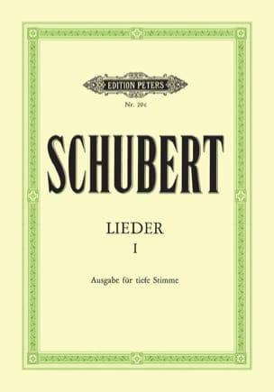 Lieder Volume 1 - Voix Grave SCHUBERT Partition laflutedepan