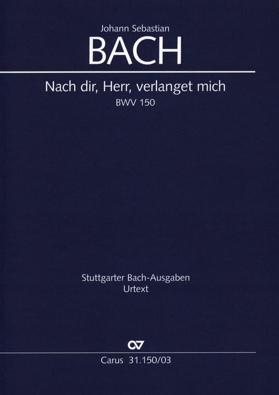 Cantate 150 Nach Dir, Herr, Verlanget Mich - BACH - laflutedepan.com
