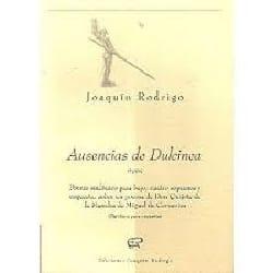 Ausencias de Dulcinea RODRIGO Partition Chœur - laflutedepan