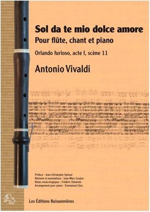 VIVALDI - Sol da te, mio \u200b\u200bdolce amore - Partition - di-arezzo.co.uk