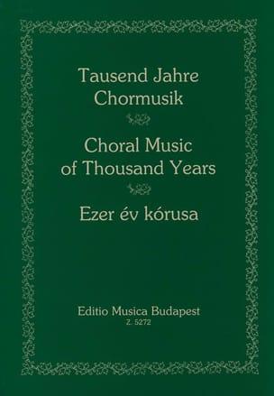 1000 Ans de Musique Chorale Partition Chœur - laflutedepan