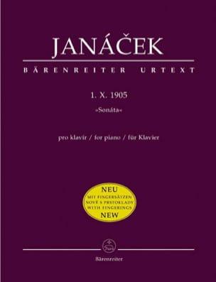 Sonate 1 X 1905. Nouvelle Edition JANACEK Partition laflutedepan
