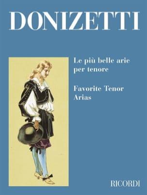 Le Piu Belle Arie Per Tenore DONIZETTI Partition Opéras - laflutedepan