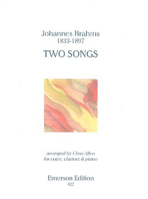 Two songs Op. 91 BRAHMS Partition Clarinette - laflutedepan
