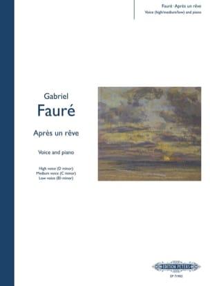 Gabriel Fauré - After a dream - Partition - di-arezzo.co.uk