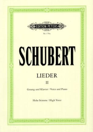 Lieder Volume 2 - Voix Haute SCHUBERT Partition laflutedepan