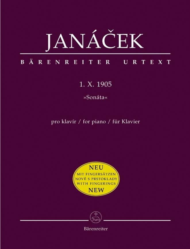 Sonate 1 X 1905. Nouvelle Edition - JANACEK - laflutedepan.com