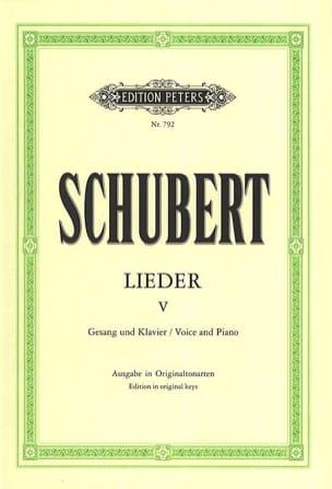 Lieder Volume 5 - Ton Original SCHUBERT Partition laflutedepan