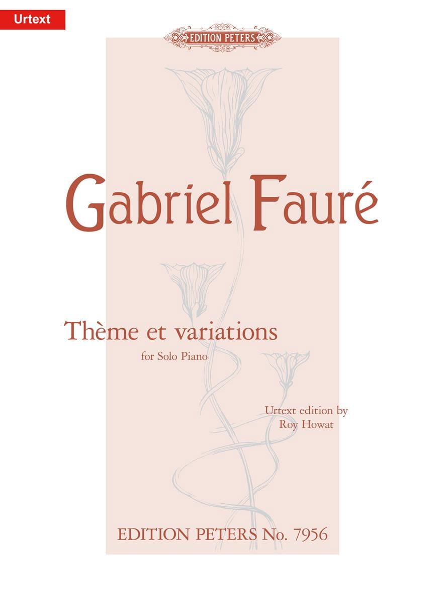 Thème et Variations Opus 73 - FAURÉ - Partition - laflutedepan.com