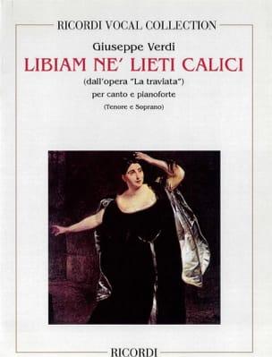 Brindisi: Libiam Ne Liete. Traviata VERDI Partition laflutedepan