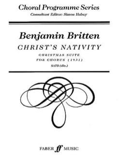 Christ's Nativity BRITTEN Partition Chœur - laflutedepan