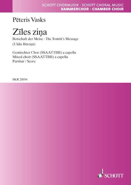Ziles zina - Peteris Vasks - Partition - Chœur - laflutedepan.com