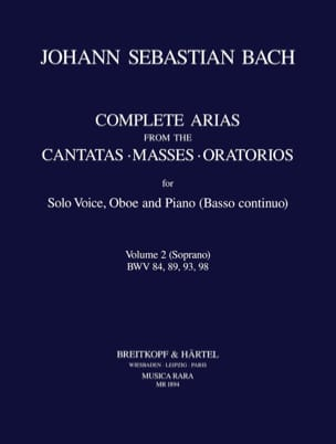 BACH - Complete Arias From The Cantatas-Masses-Oratorios Volume 2 Soprano - Partition - di-arezzo.co.uk