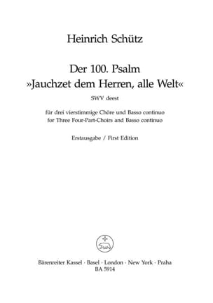 Jauchzet dem Herren, alle Welt - Psalm 100 SCHUTZ laflutedepan