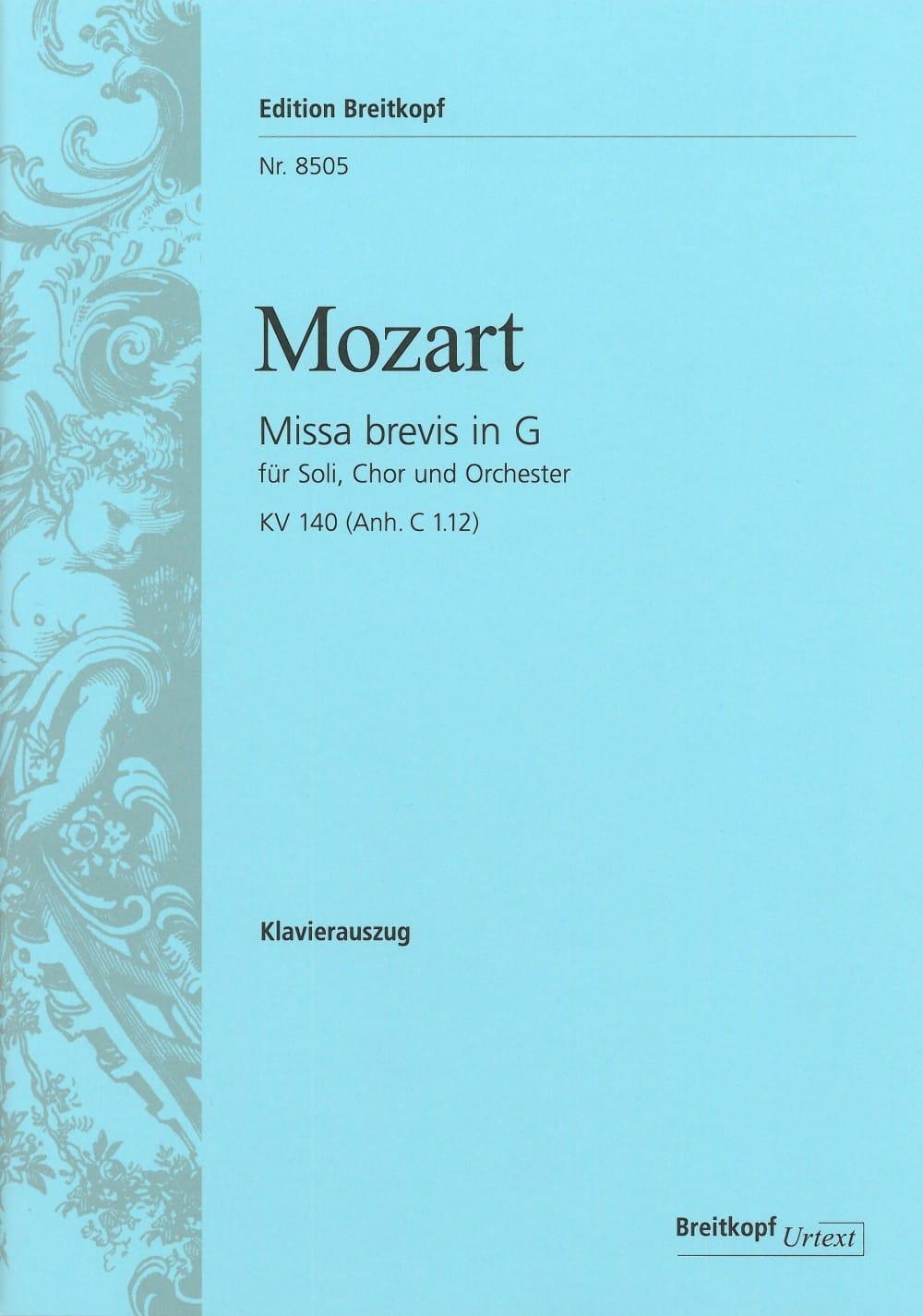 Missa Brevis in G KV 140 - MOZART - Partition - laflutedepan.com